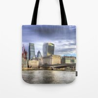 City Of London And River… Tote Bag