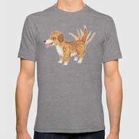 Doggy Mens Fitted Tee Tri-Grey SMALL