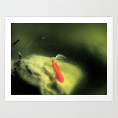 Life under the Ice (Watercolors version) Art Print