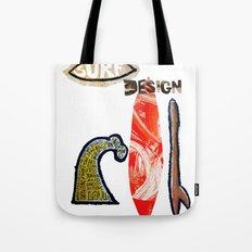 Surf Design Tote Bag