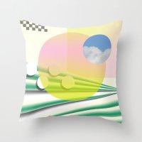 Peach Sky Throw Pillow