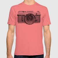 Vintage Camera Phone Mens Fitted Tee Pomegranate SMALL