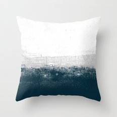 Ocean No. 1 - Minimal ocean sea ombre design  Throw Pillow