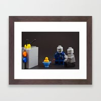 Shhhh our shows about to start Framed Art Print