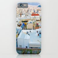 iPhone Cases featuring Rooftops, Athens by Hazel Bellhop