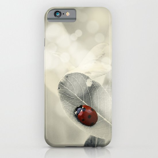 Ladybug in the Snow iPhone & iPod Case