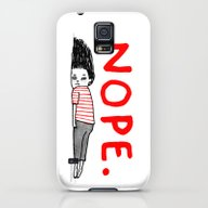 iPhone & iPod Case featuring Nope by Gemma Correll