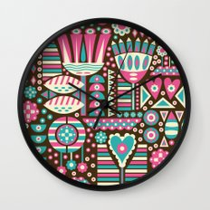 FLORAL PATTERNS Wall Clock