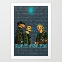 Bee Gee's Poster (Analog… Art Print