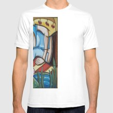 Waking in Fairy Land White Mens Fitted Tee SMALL