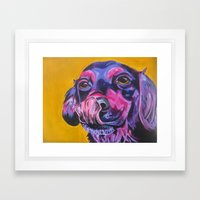 Samantha's Tongue Framed Art Print