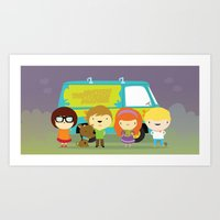 Little Scooby Characters Art Print
