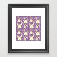 Kawaii Bunny Framed Art Print