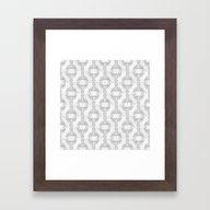 Framed Art Print featuring Black And White Damask P… by Daphna Dotan