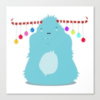 December Monsters: Merry… Canvas Print