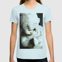 LET SMILE  Womens Fitted Tee Light Blue SMALL