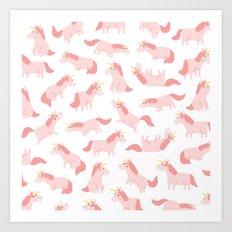 unicorn madness Art Print