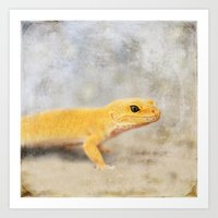 Portrait Of A Leopard Ge… Art Print