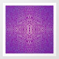 Radiate (Purple Blue) Art Print