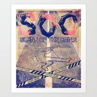 SOC - Scene of the crime Art Print