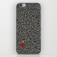 Blue w/Red Accent Dot Color Design iPhone & iPod Skin