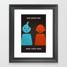she loves you yeah yeah yeah Framed Art Print