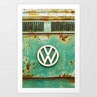 vw Art Prints featuring VW Retro by Alice Gosling