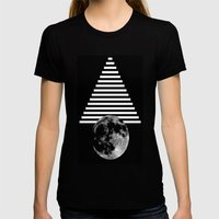 moon walk Womens Fitted Tee Black SMALL