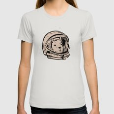Astrollama Womens Fitted Tee Silver SMALL