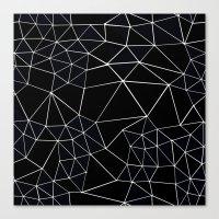 Segment Zoom Black And W… Canvas Print