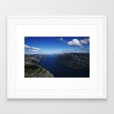PREIKESTOLEN Framed Art Print