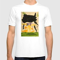 Black Rain Mens Fitted Tee White SMALL