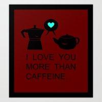 COFFEE&TEA Art Print