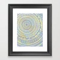 Mandala Doodle Framed Art Print