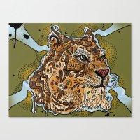 UP TIGER HEAD Canvas Print