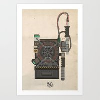 Ghostbusters 2016 Proton Pack and Necklace Art Print