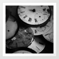 Time - Black And White Art Print