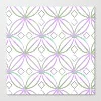 Floral Pattern - JUSTART © Canvas Print
