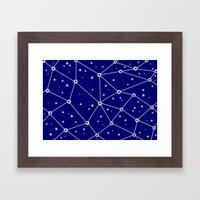 Constellations/Star Gazing Framed Art Print