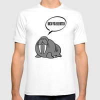 Angry Walrus Mens Fitted Tee White SMALL