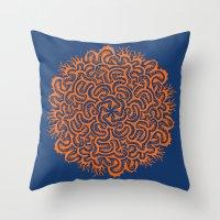 Bugs Maze (orange) Throw Pillow