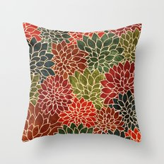 Floral Abstract 7 Throw Pillow