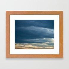 Deep Cerulean Sky Framed Art Print