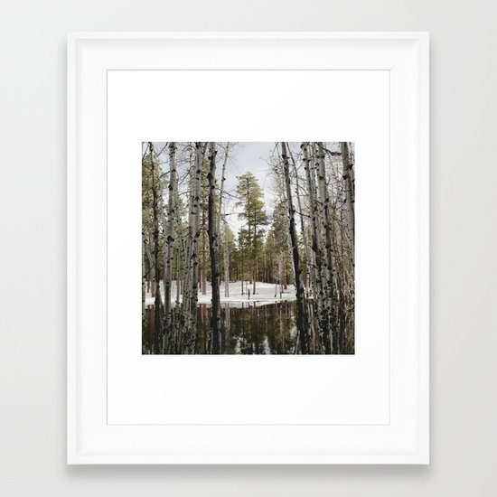 Snowy Forest Grammer Framed Art Print