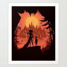 Traveling with the Queen Art Print