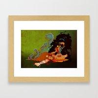 Calypso the Voodoo Priestess  Framed Art Print