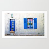Mediterranean holiday house. Art Print
