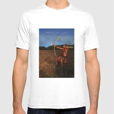Sagittarius Mens Fitted Tee SMALL White