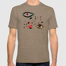 Tribute To J. Mirò (n.1… Mens Fitted Tee Tri-Coffee SMALL