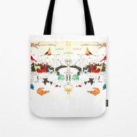 Animal Illustration Tote Bag